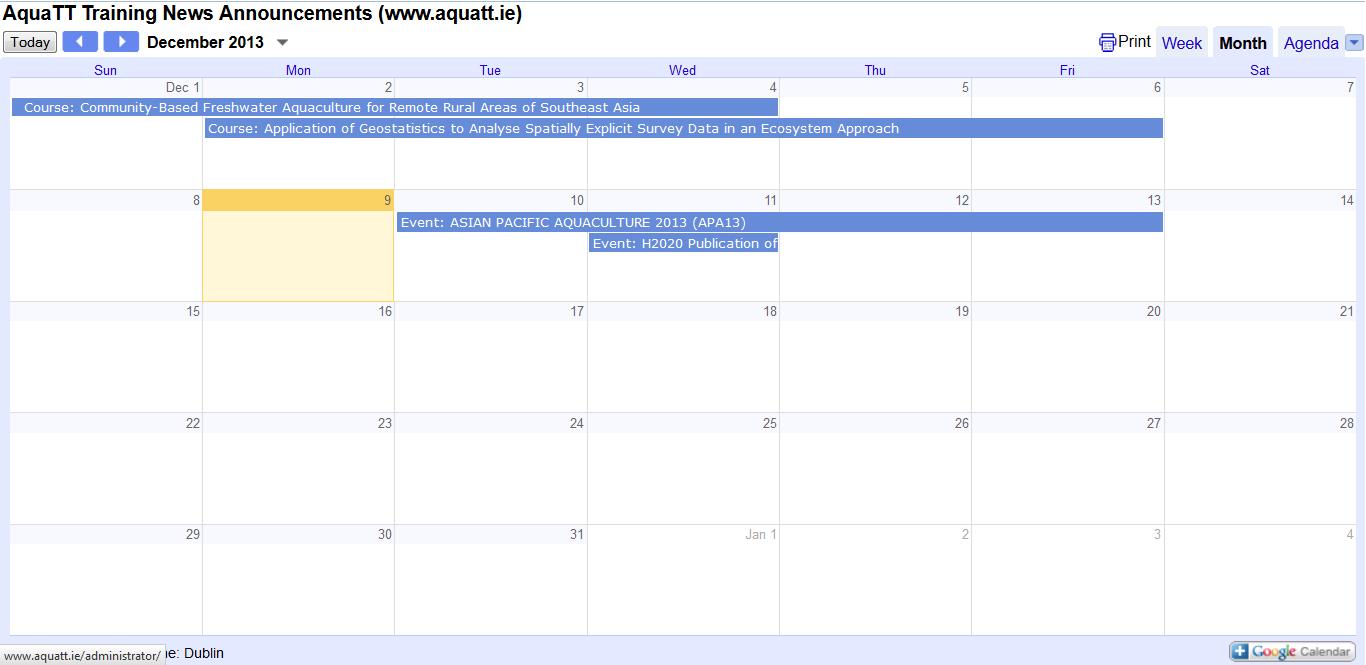 Announcements December Calendar2