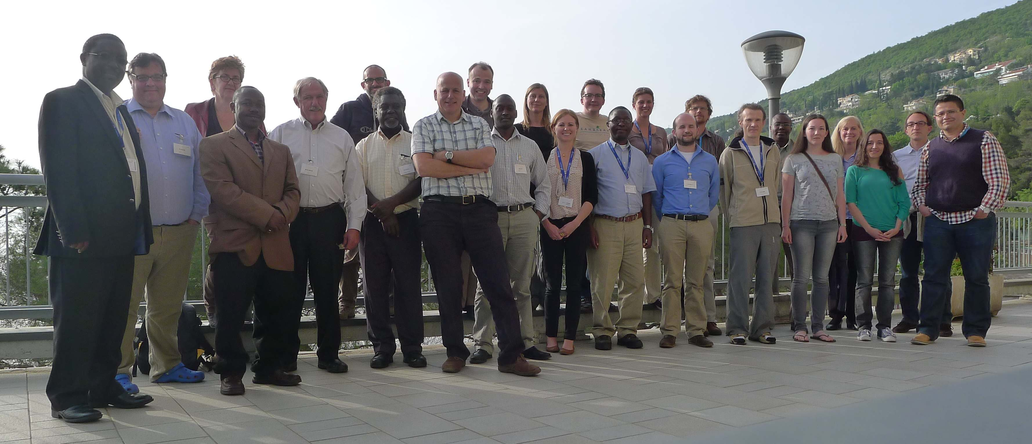 David Taylors group photo ICTP