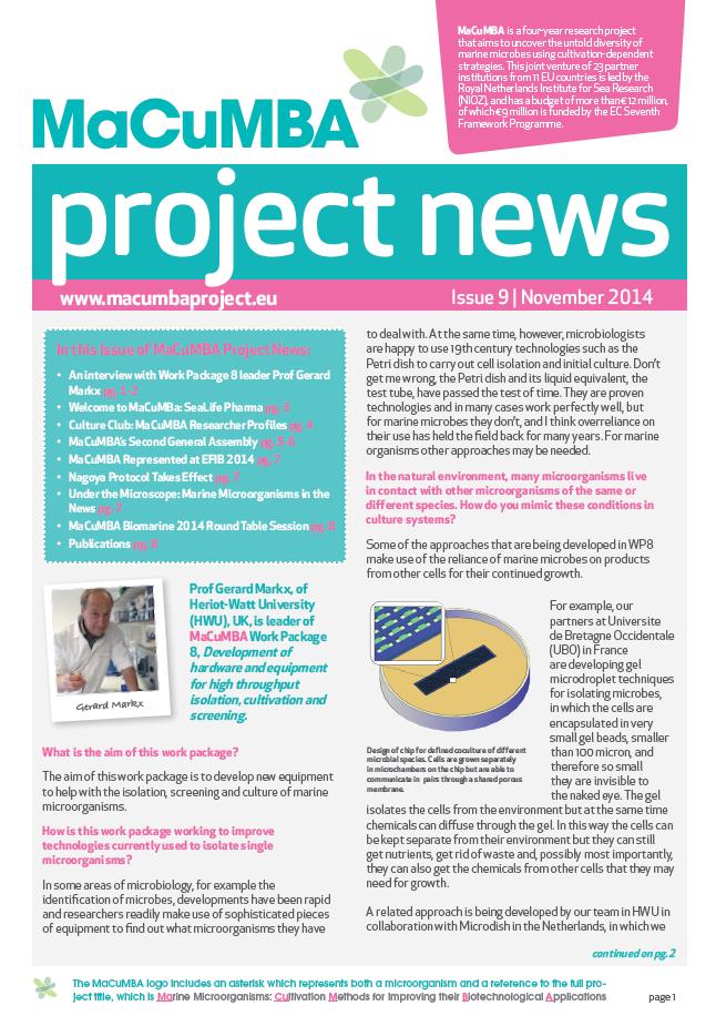 Macumba 9th Newsletter screen grab