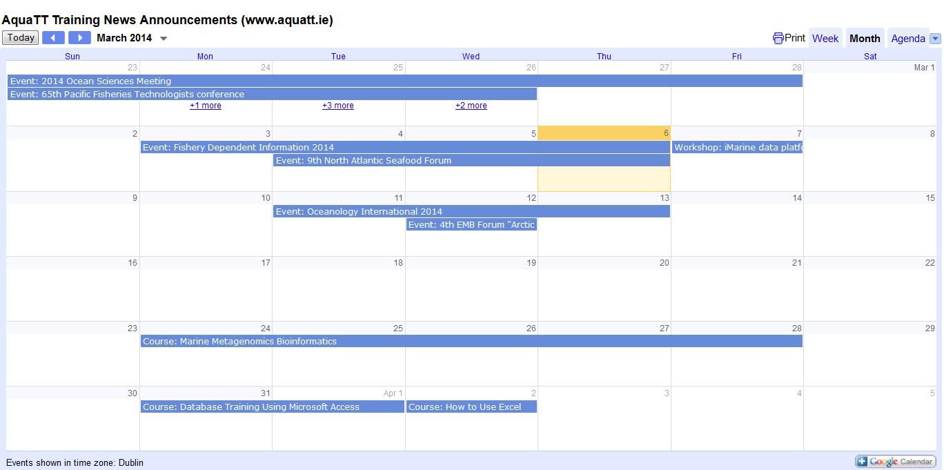 Mar 2014 calendar