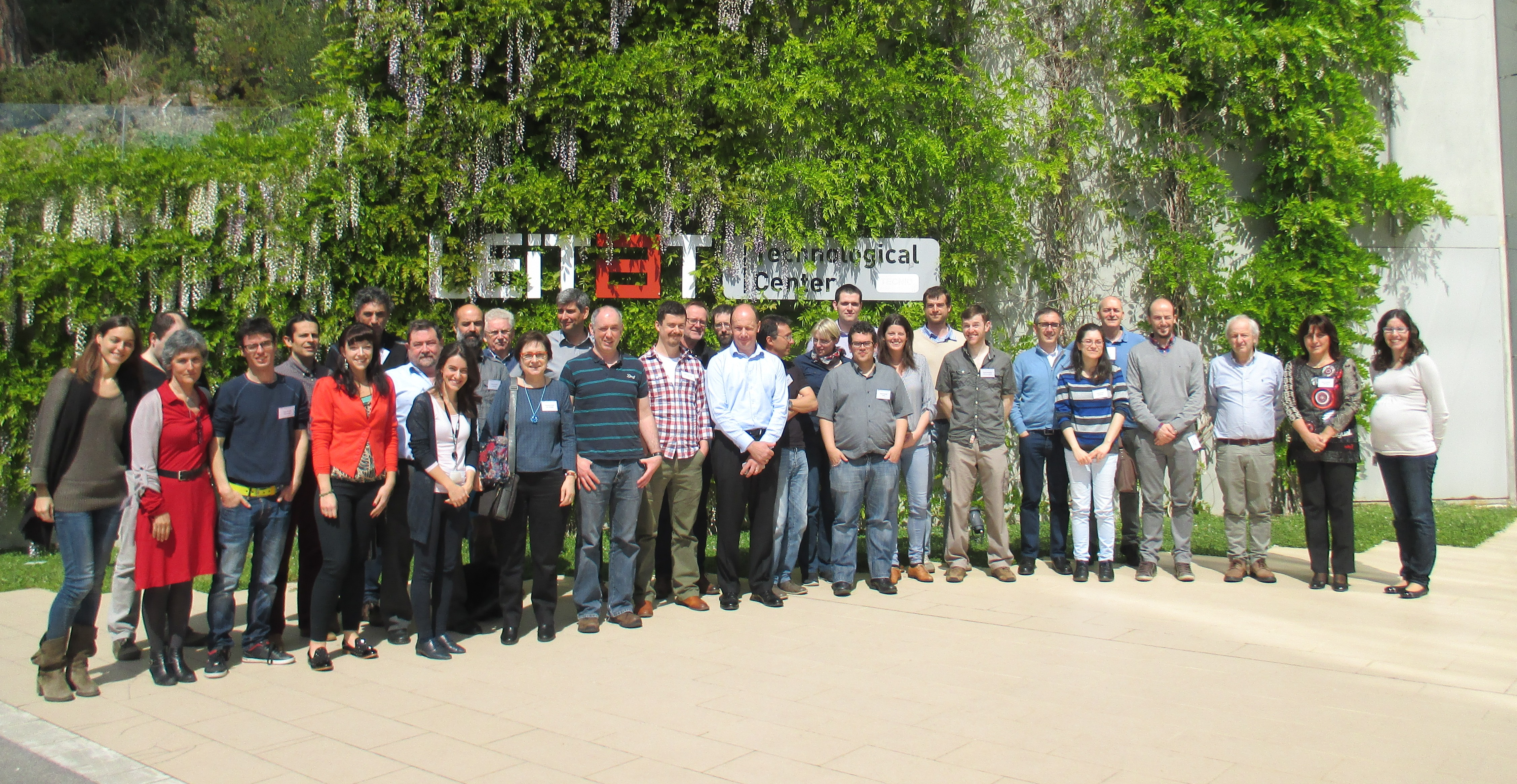 Members of the COMMON SENSE consortium at the projects partner meeting in April 2015 in Terrassa Spain