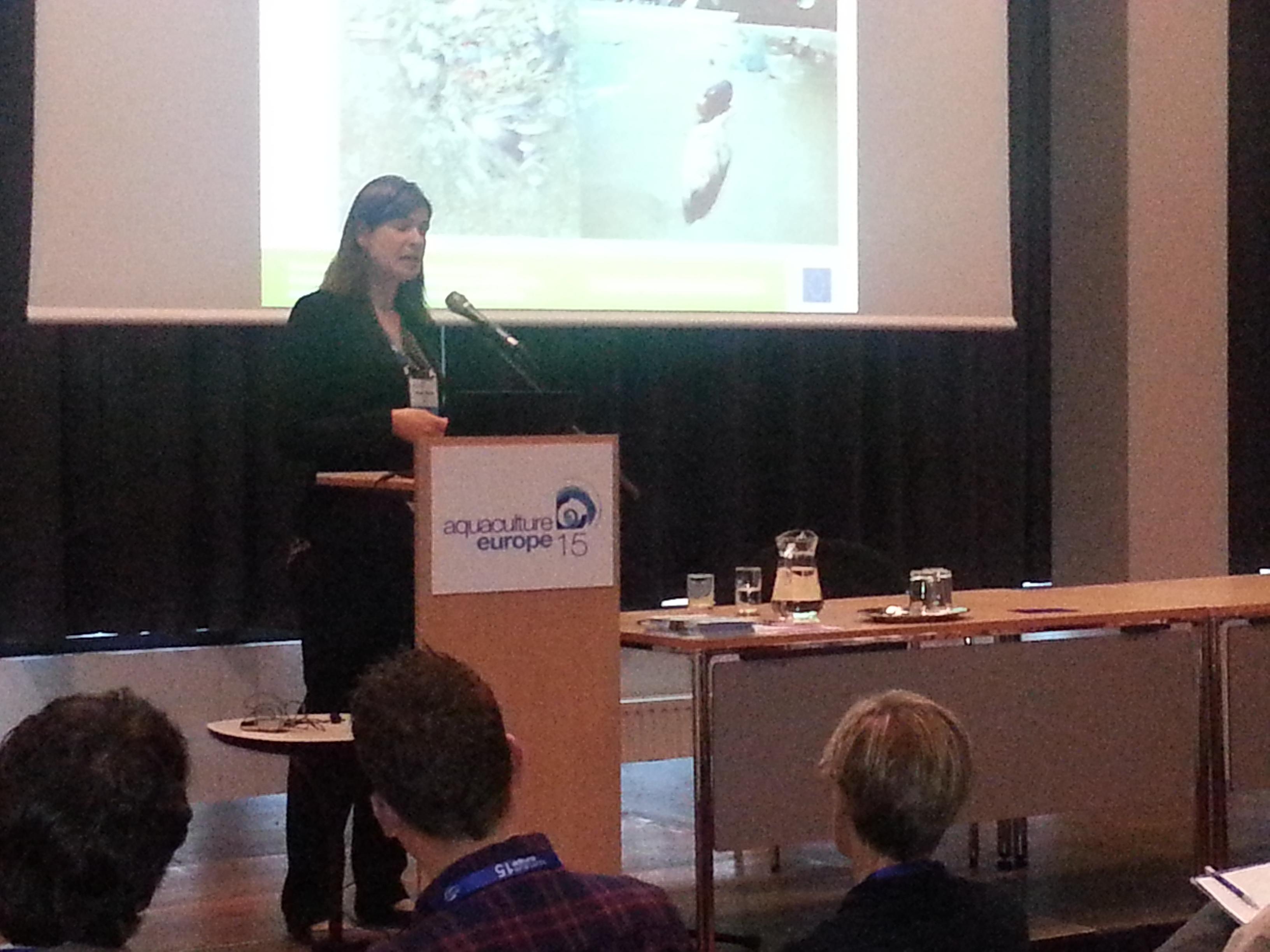 Marieke presenting