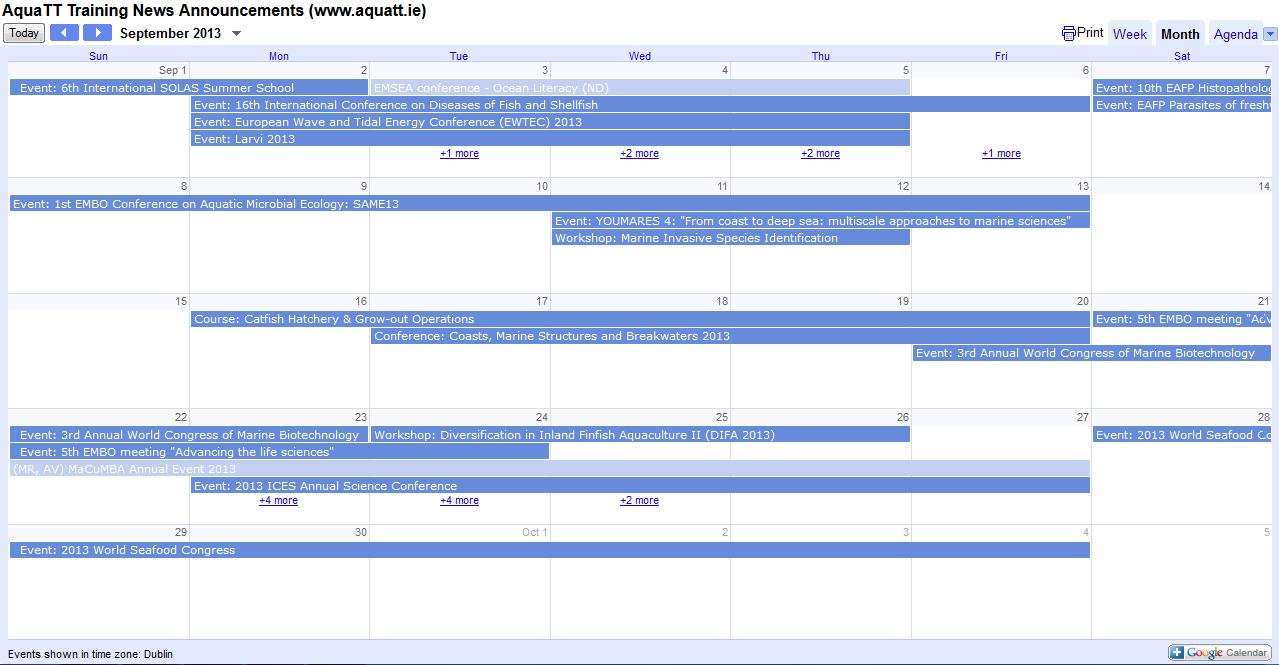 TN Announcements September Calendar