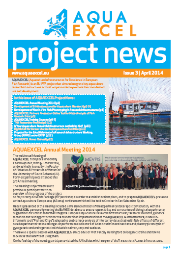 AQUAEXCEL Newsletter Issue 3 April 2014