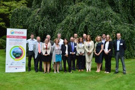 Members of the STAGES project consortium at the projects final event in Brussels compressed
