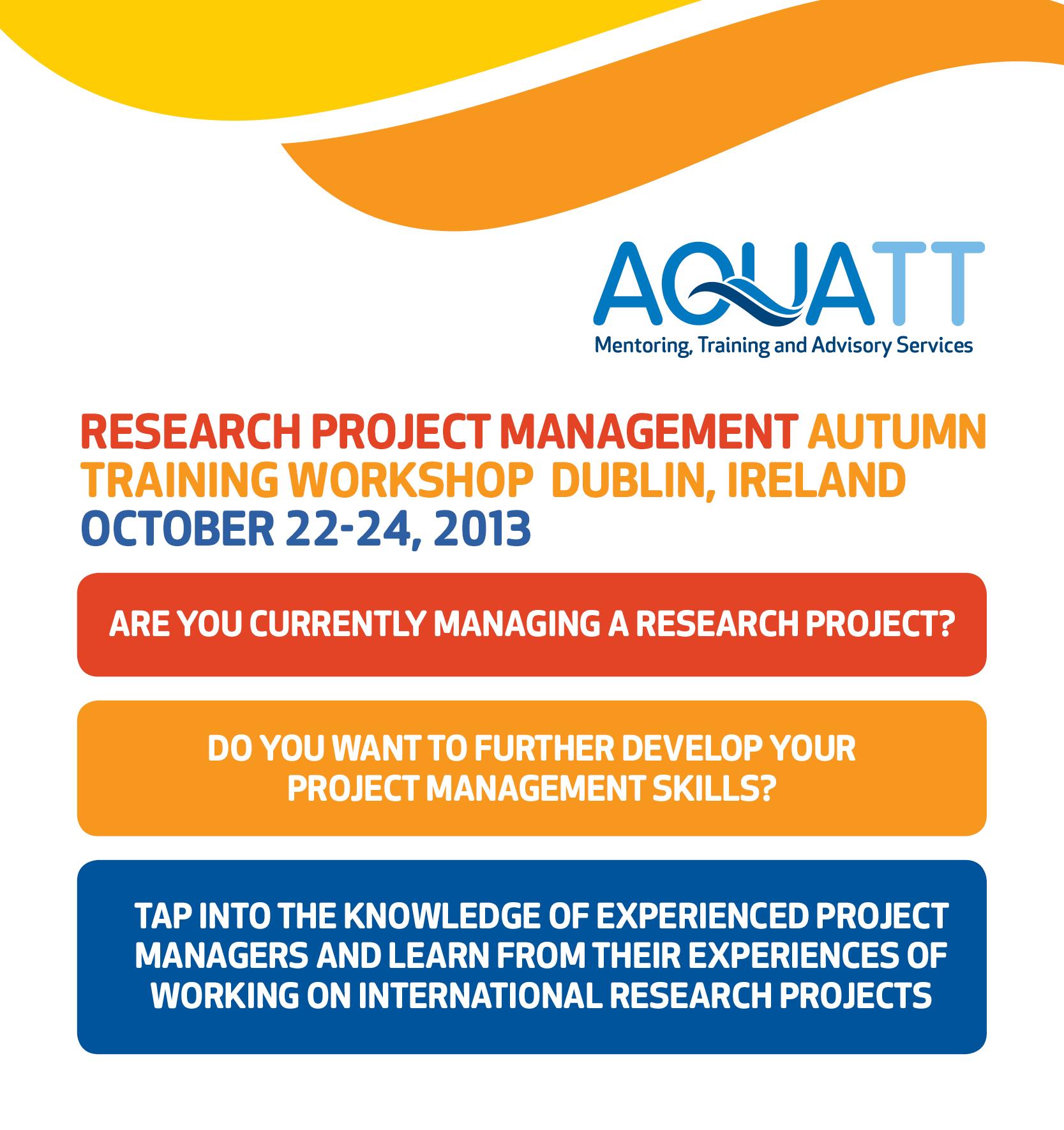 Aquatt Training Web page