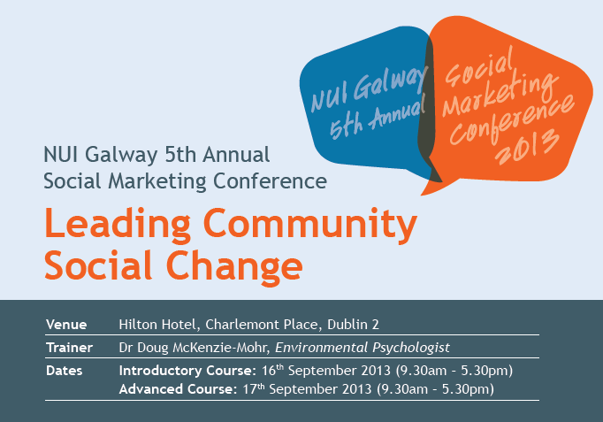 Social Marketing conference NUI Galway