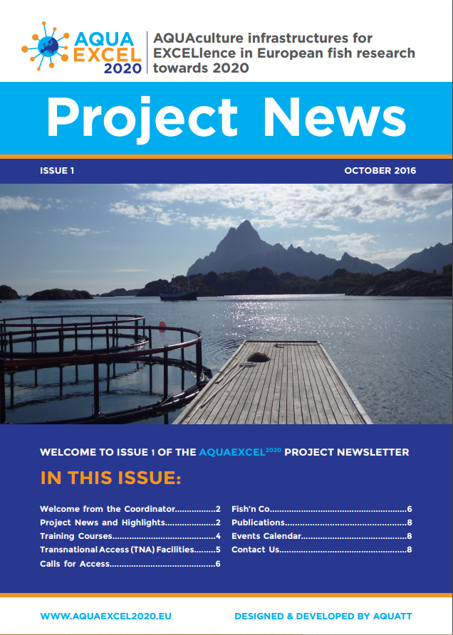 AQUAEXCEL2020 Newsletter 1 Image