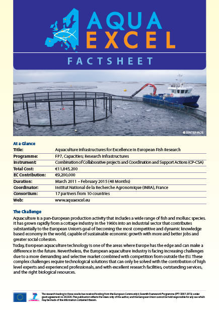 AQUAEXCEL Factsheet