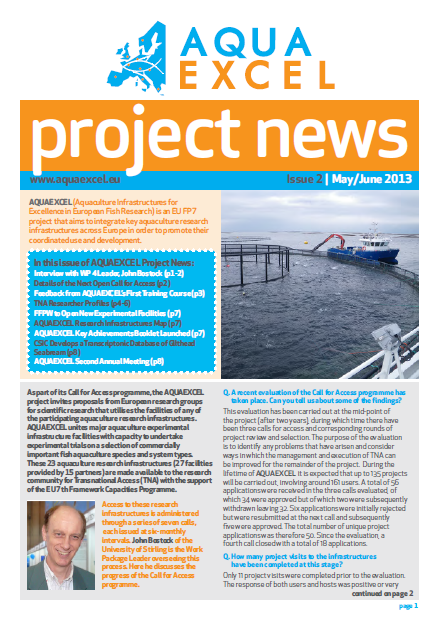 AQUAEXCEL Newsletter May June 2013