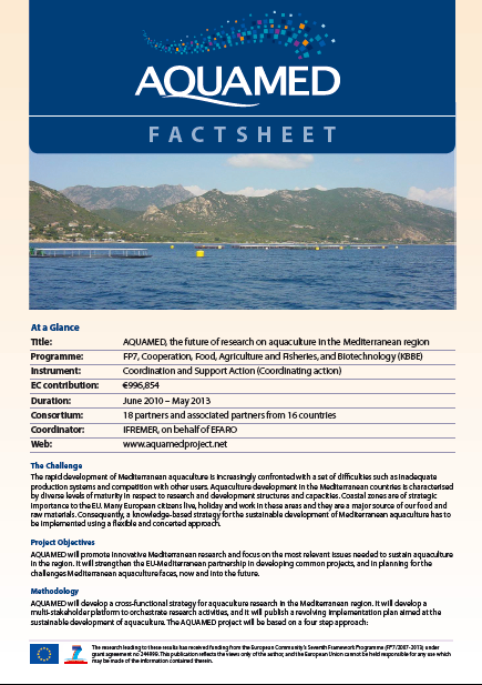 AQUAMED Factsheet