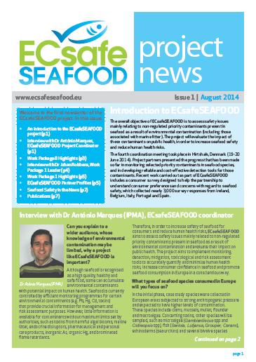 ECsafeSEAFOOD Newsletter Issue 1
