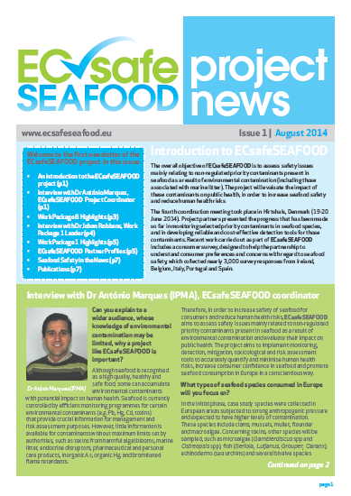 ECsafeSEAFOOD Newsletter Issue 1 2015