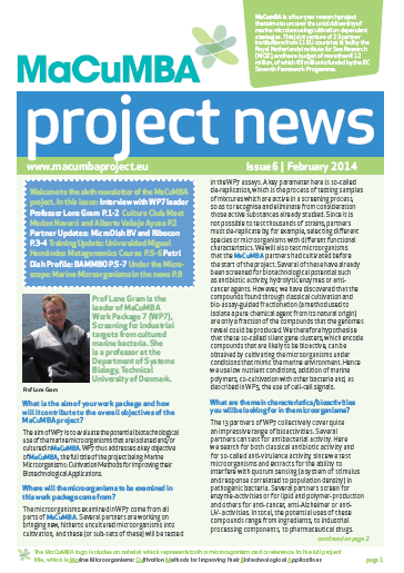 MACUMBA Project News Issue 6