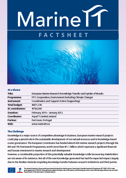 MARINETT Factsheet