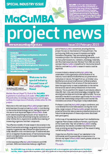 MaCuMBA Project News Issue 10 cover