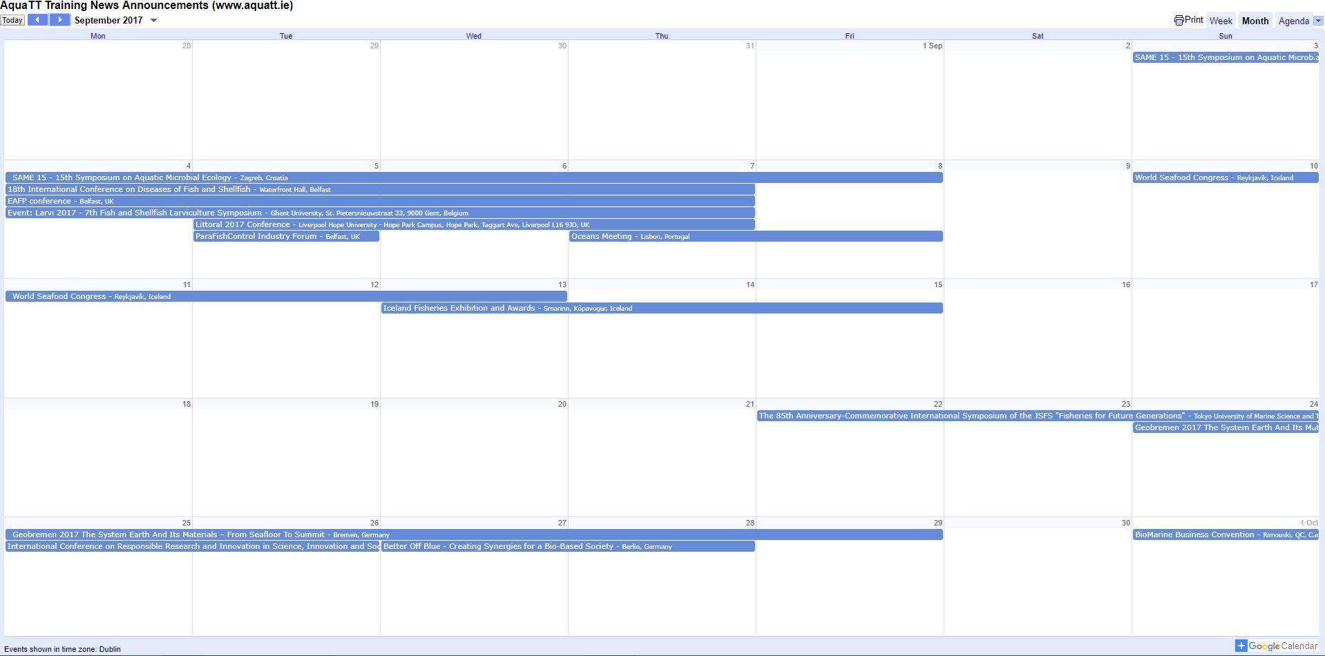 Calendar Sept